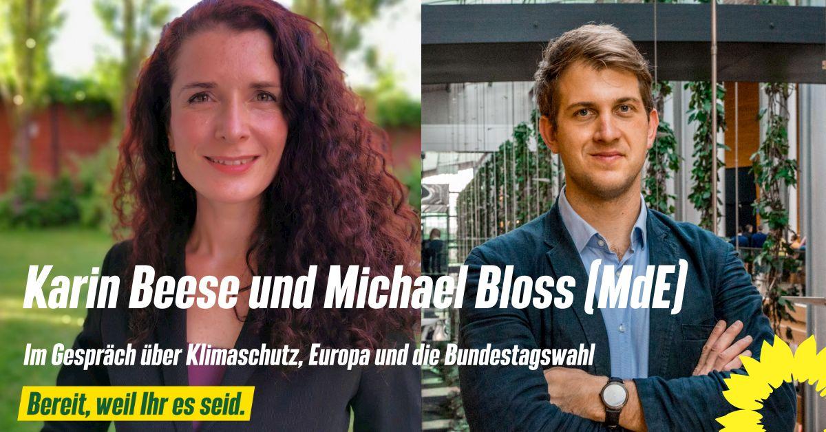 Karin Beese im Gespräch mit Michael Bloss